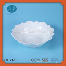fashion ceramic soup bowl with fruit painting,fruit shape bow,ceramic soup bowl set
