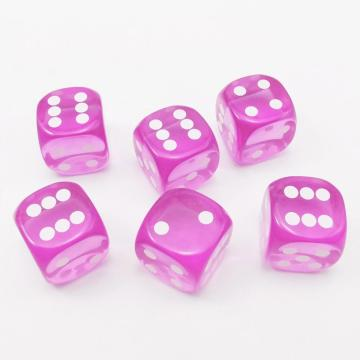 14.5MM Printing Precision Dice Translucent Purple 0.57inch