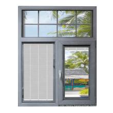 UPVC/ PVC casement window blind inside double glass window