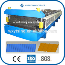 Pasó CE y ISO YTSING-YD-6613 Sistema de PLC automático Rollo de teja de techado de doble capa que forma la máquina