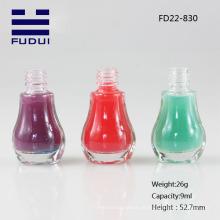 O frasco de vidro do polonês de prego da venda / o frasco de vidro polonês de prego / o frasco de vidro vazio do lustrador de prego