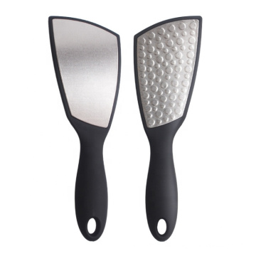 Wholesale Price Black Pedicure Callus Scrubber 304 material and ABS handle Foot Remover