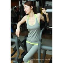 Yoga Mulheres Calças Treino Capri Fitness Wear de Crossfit Vestuário