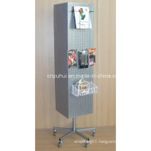 Four Sided Floor Revolving Pegboard Stand (PHY2010)