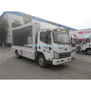 FAW 4x2 LED advertising Truck with CCC certificate