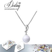 Destiny Jewellery Pearl Necklace Lead Free Crystals From Swarovski