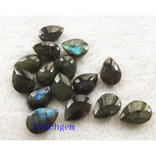 Bijoux Labradorite pièces-Natural Pear Checkbord perles