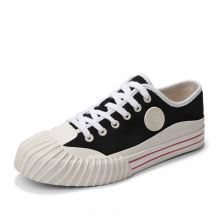 Men Casual White low top canvas shoes