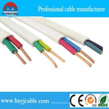 BVVB Cable 2cm 1.5mm Cable plano de cobre Fabricante Blanco Funda