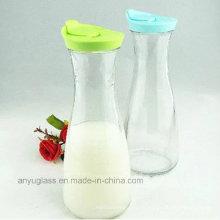 Бутылки с молочным стеклом для фруктового сока с пластиковой крышкой