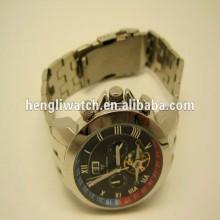 Mode automatische Uhr, Männer Edelstahl Uhren 15040