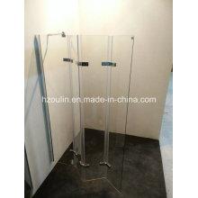 Шарнир для ванной комнаты с 4-мя складными стеклами