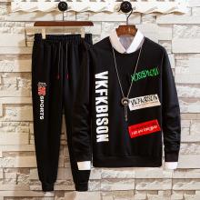 Men's polyester hooded sweatshirt suits