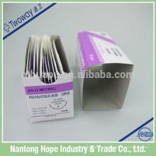 Одноразовые стерильные хирургические ПГА шовный материал с иглой
