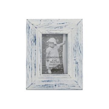 Lave o quadro de madeira branco da foto para a decoração Home