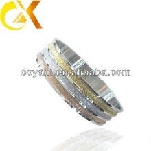Prata Bangle modelos Plating ouro Sand-blast pulseira de aço inoxidável