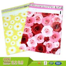 Precio barato auto adhesivo 10X13 o 9X12 Rosas pintadas a medida diseñador bolsas de envío al por menor de plástico