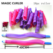 Purple & Rose-Red 18PC / 40cm Magic Leverag Curler (HEAD-68)