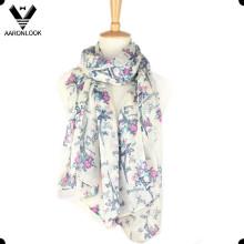 Moda de poliéster ligero impresión de la bufanda