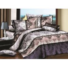 100% Polyester Microfiber Brushed Duvet Cover and Bed Sheet Bedding Set