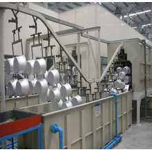 Powder coating spray system for metal