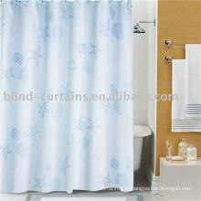 Waterproof colorful bathroom curtain for hotel
