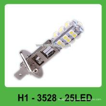 360 degree emitting color DC12V 25 pcs 3528 H1 led headlight
