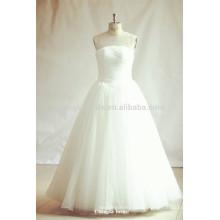 Prinzessin Illusion Ausschnitt Weiß Tulle Brautkleider