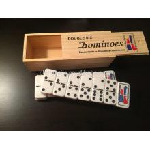 geschnitzten Druck Logo Domino