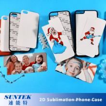 Sublimations-leere Plastiktelefon-Fälle, die für Hitze-Presse-Maschine verwenden