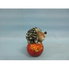 Apple Hedgehog forma de artesanía de cerámica (LOE2535-C8.5)