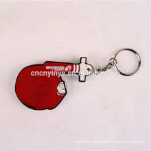 Benutzerdefinierte unregelmäßige Form führte pvc Schlüsselanhänger