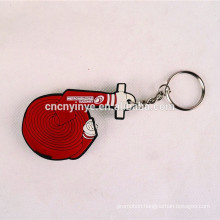 Custom irregular shape pvc led key chain