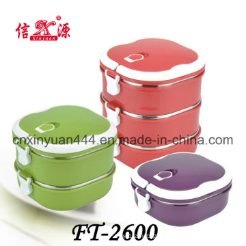 Hermético de acero inoxidable mantener la caja de almuerzo caliente (FT-2600)