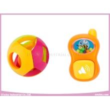 Sonajeros de bebé Pelota y teléfono móvil Juguetes de plástico Sonajeros mezclados 12 en 1