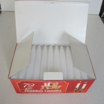 Shabbos white candle wholesale in France