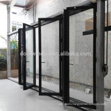 Aluminium frame bi-fold glass doors folding bathtub shower door exterior bifold