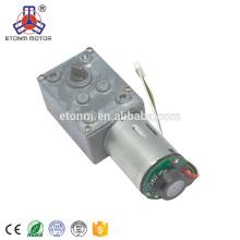 motor del engranaje de gusano 12v con motor de CC de bajo ruido de alto par de baja rpm