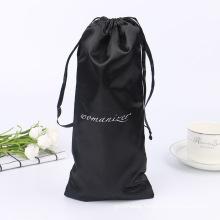 Wholesale custom print colorful small cotton drawstring pouch drawstring storage bag