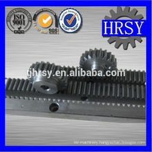 Industrial gear rack and pinion gear