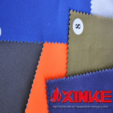 100% algodão Anti-ácido e tecido alcalino para vestuário de trabalho