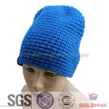 Azul malha chapéus beanie (gka0401-f00028)