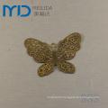 Elegant Copper Filigree Earrings with Butterfly Design for Women