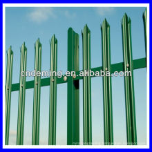 steel triple pointed top pales powder coated palisade fencing