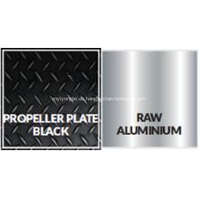 Karierter Diamant aus schwarzem Aluminiumstahl
