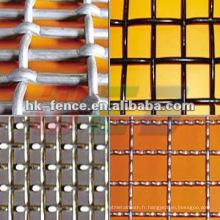 Treillis métallique ondulé galvanisé à chaud