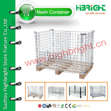 stackable storage wire mesh container