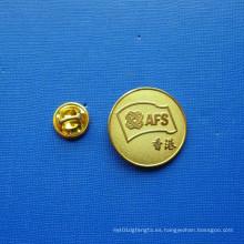 Pin de la solapa de la moneda, insignia plateada oro de la seguridad (GZHY-LP-026)