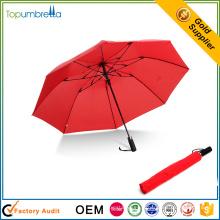 Chinois fournisseur mini plein corps coupe-vent imperméable à l'eau 2 parapluie pliant