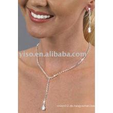 Perle geformte Rhinestone Schmuck Set